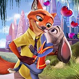 Judy Hopps and Nick Wilde Kissing
