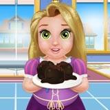 Baby Rachel Cooking Cake Balls