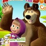 Misha And The Bear Coloring