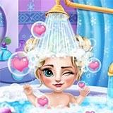 Ice Queen Baby Bath!