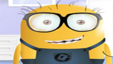 Yellow Monster wearing glasses