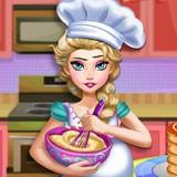 Pregnant Elsa Baking Pancakes 2
