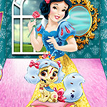 Snow White and Muffin Palace Pets Palace Pets